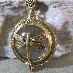 DRAGONFLY Loupe Pendant 5X Magnifying Necklace